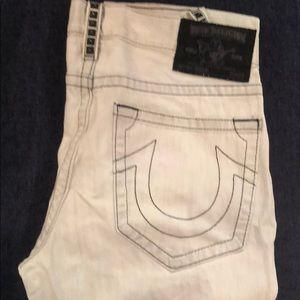True Religion, whitewashed jeans, like new